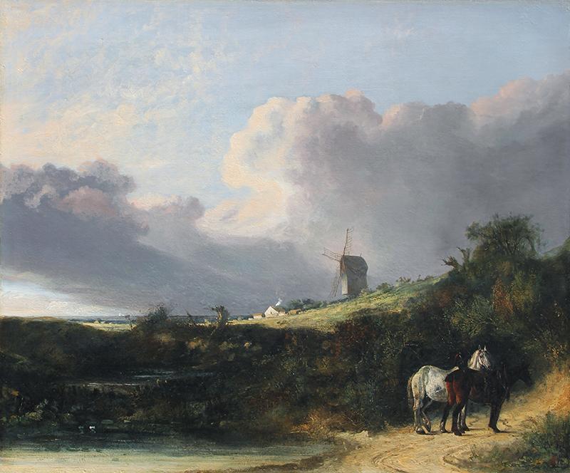 JOHN CROME    A View near Woodbridge, Suffolk   Oil on canvas 26 x 31 inches (66.1 x 78.7 cm)  SOLD