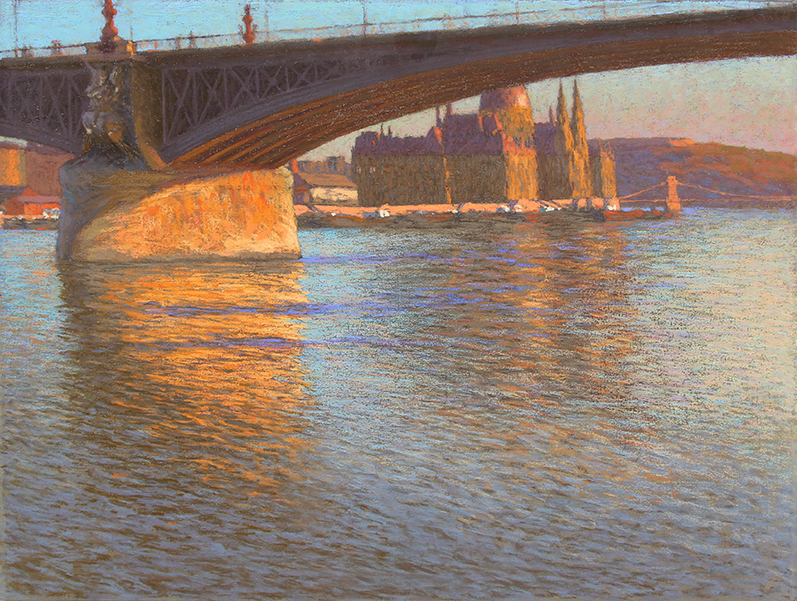 HUGO POLL    Margaret Bridge, Budapest   Pastel on canvas 17¾ x 23¾ inches (45.4 x 60.3 cm) $17,000 Click here for more information