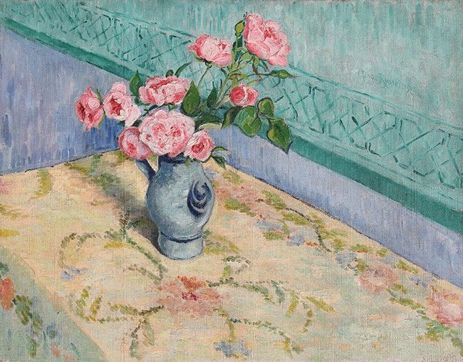 DR. PAUL FERDINAND GACHET  Bouquet de Roses   Oil on canvas 17 x 21¾ inches (43 x 55 cm)  SOLD