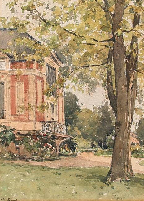Paul Lecomte a chateau garden