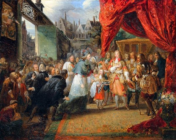 Louis Gabriel Eugène Isabey   Louis XIV Entering Paris