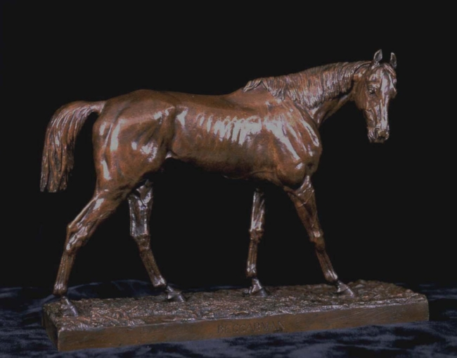 JACQUE AUGUSTE FAUGINET    Beggarman   Bronze, medium brown patina 14 x 11 x 4 inches (35.6 x 30.5 cm) $14,000 Click here for more information