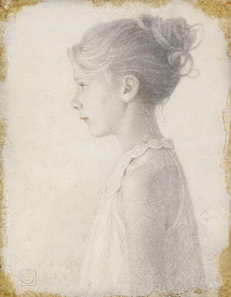 Viktor Koulbak | Young Girl in Profile