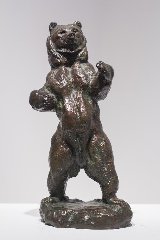 ANTOINE-LOUIS BARYE    Standing Bear (Ours Debout)   Bronze with reddish brown patina Height: 9½ inches (24 cm)  SOLD