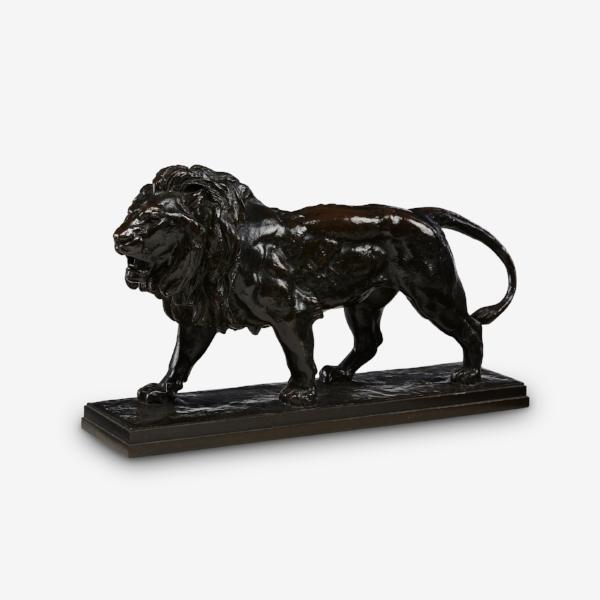 ANTOINE-LOUIS BARYE -    Walking Lion (Lion qui Marche), modèle 1840