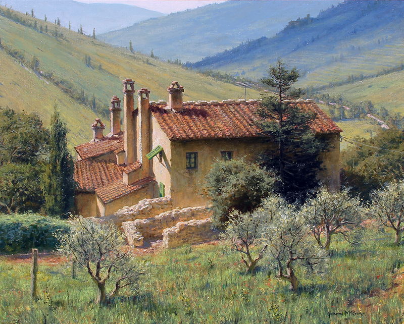JOSEPH MCGURL  Landscape in Umbria    Oil on canvas 24 x 30  inches (61 x 76.2 cm)  $11,000 Click here for more information