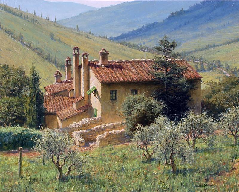 Joseph McGurl Landscape in Umbria