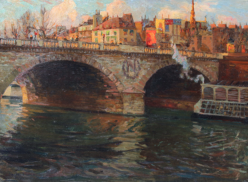 RICHARD HAYLEY LEVER    Pont Saint-Michel, Paris   Oil on canvas 24 x 32 inches (61 x 81.3 cm) $55,000 Click here for more information