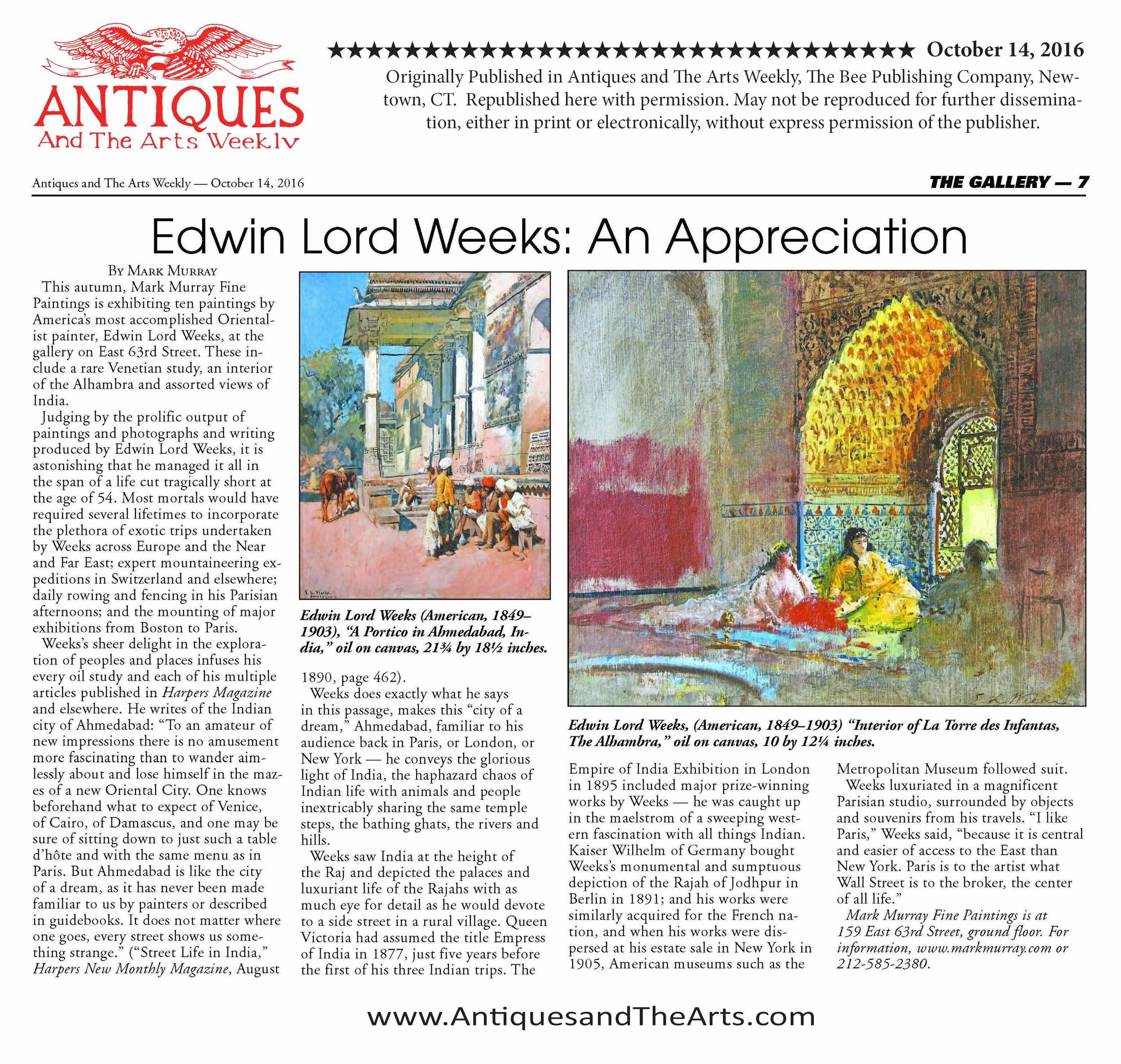 Antiques & the Arts Weekly 14 October 2016