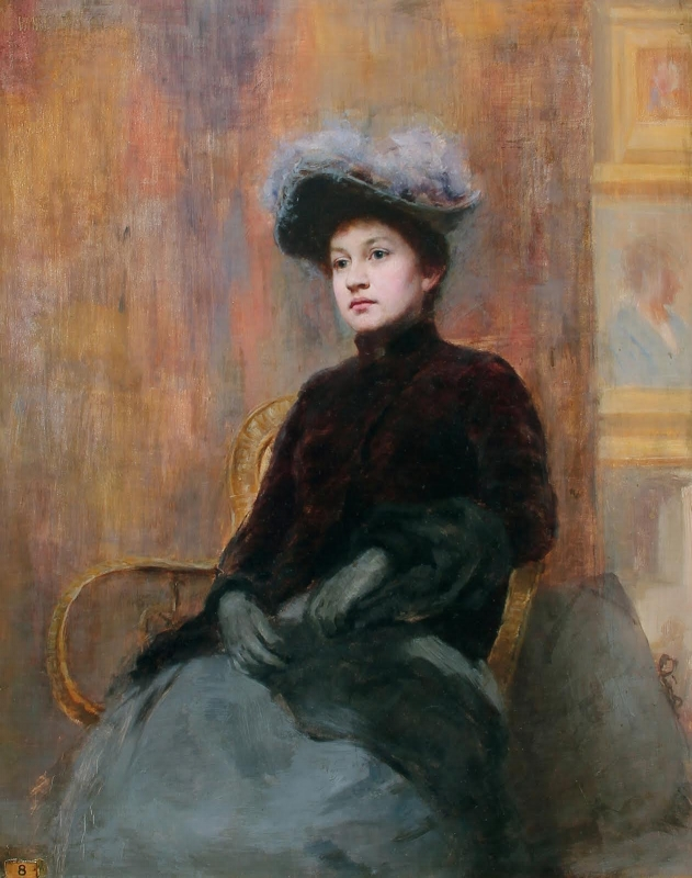 Portrait of a Lady   Oil on panel 16 x 12¾ inches (40.6 x 32.4 cm) $26,000 Click here for more information
