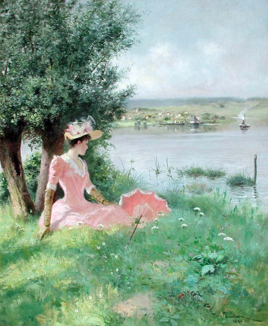 JEAN BEAUDUIN    A Summer's Day   Oil on canvas 25½ x 21¼ (65 x 54 cm.)  SOLD