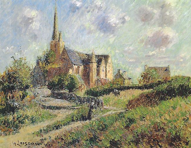 GUSTAVE LOISEAU  Notre-Dame de la Clarté   Oil on canvas 19¾ x 25½ inches (50 x 65 cm.)  SOLD
