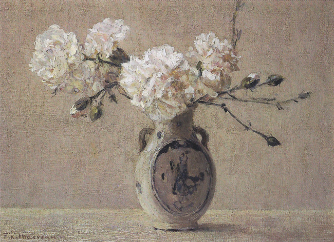 PIERRE FÉLIX FIX-MASSEAU  Still Life   Oil on canvas 9½ x 13 inches  SOLD