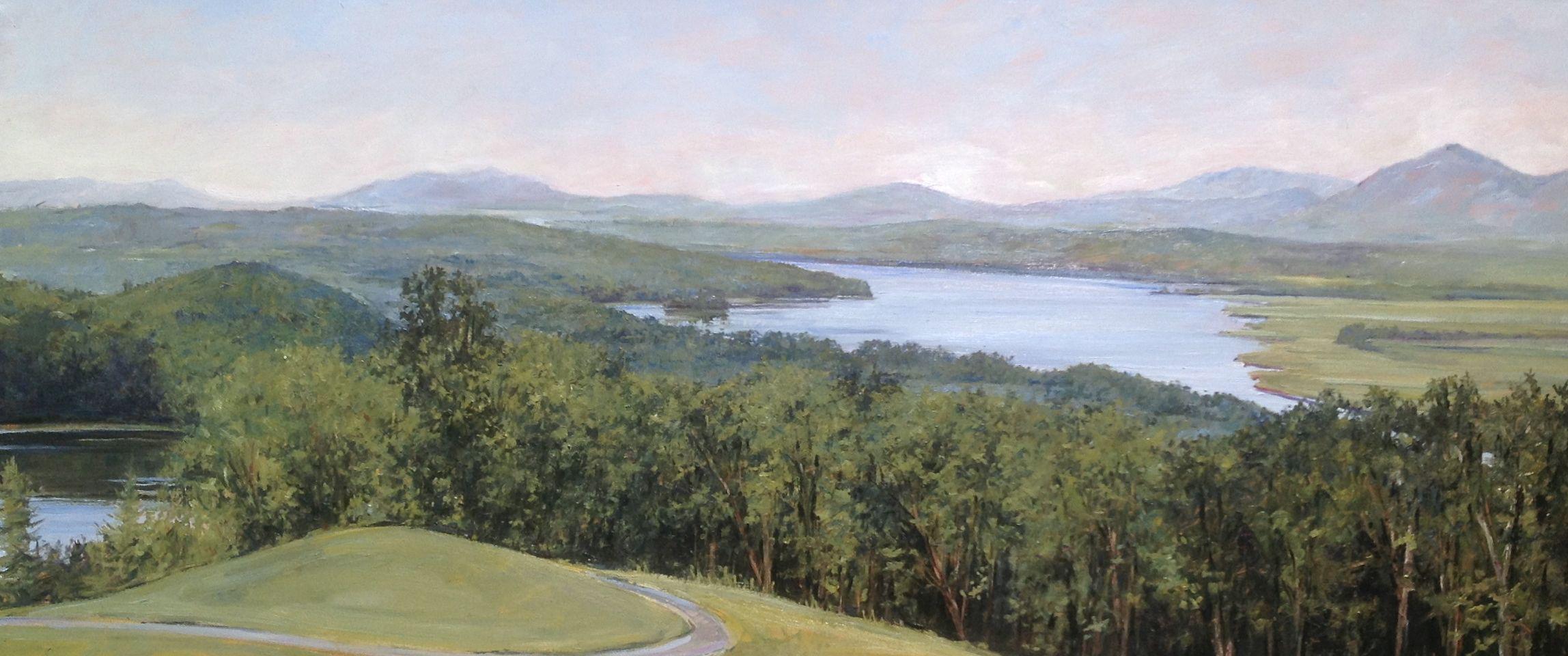 EMILY BUCHANAN  Olana   Oil on panel 18 x 42 inches (45.7 x 106.7)   SOLD