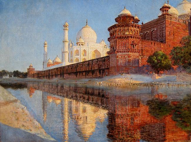 VASILY VERESHCHAGIN    The Taj Mahal, Evening   Oil on canvas 18¼ x 24 inches (46.5 x 61 cm)  SOLD