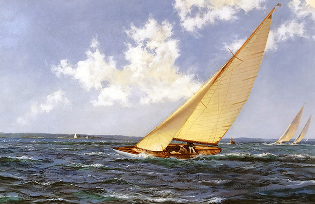 MONTAGUE DAWSON    Rippling Solent   Oil on canvas 20 x 30 inches (50.8 x 76.2 cm)  SOLD