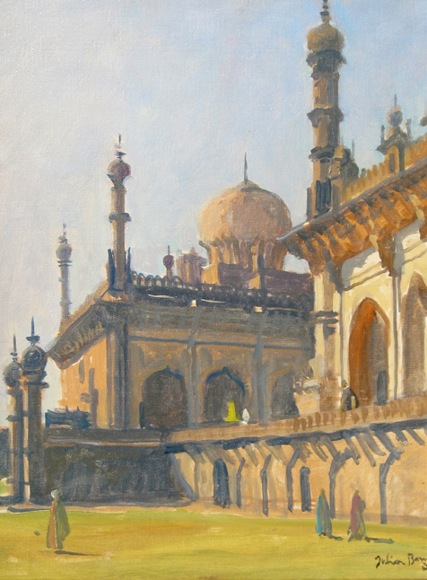 JULIAN BARROW    Bijaipur, India   Oil on canvas 12 x 9½ inches (30.5 x 24 cm)  SOLD