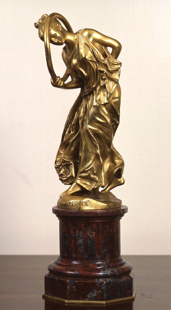 JEAN-LÉON GÉRÔME    Hoop Dancer (La Joueuse de Cerceau)   Gilt bronze 9 inches (23 cm) without base; 13 inches (33 cm) with base  SOLD