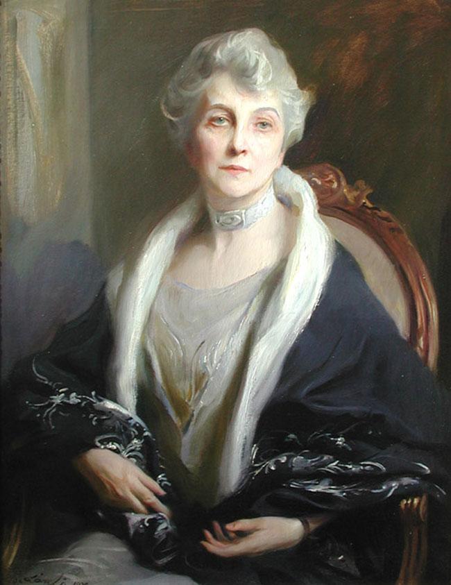 PHILIP DE LASZLO  Portrait of Mrs. Kellogg (  1929) Oil on canvas 36 x 28 inches (91.5 x 71 cm.)  SOLD