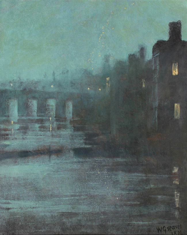 WALTER GREAVES  Nocturne: Battersea Bridge, London   Oil on canvas 26 x 21 inches (66 x 53.3 cm.)  SOLD