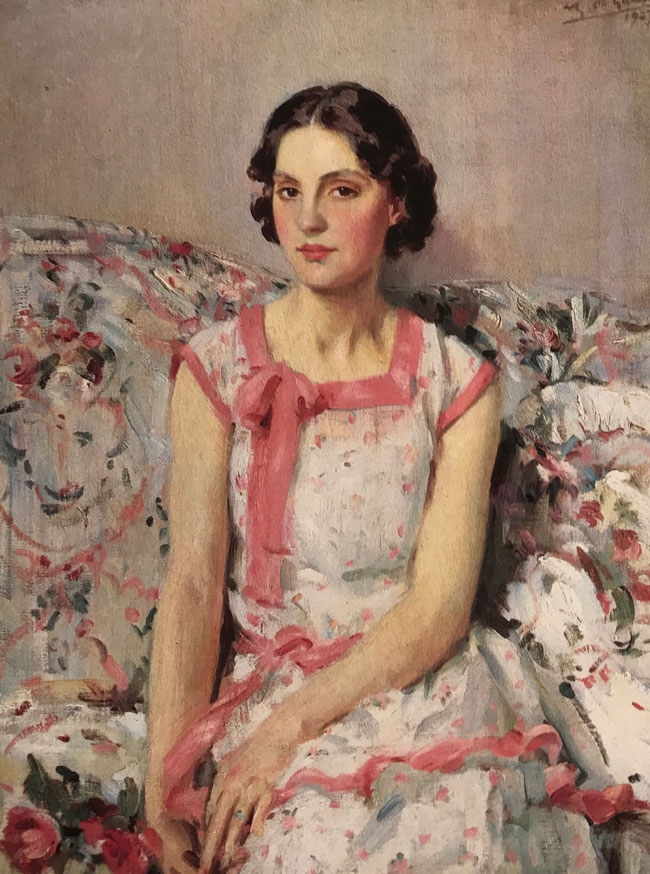 WILFRID GABRIEL DE GLEHN  Clare   Oil on canvas 30 x 23 inches (76.2 x 58.4 cm.)  SOLD
