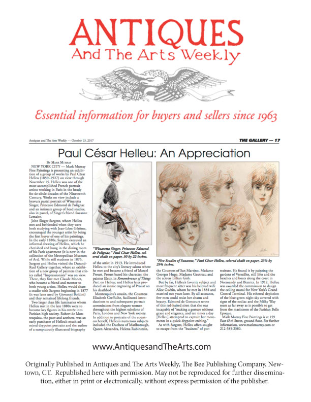 Paul Cesar Helleu - An Appreciation