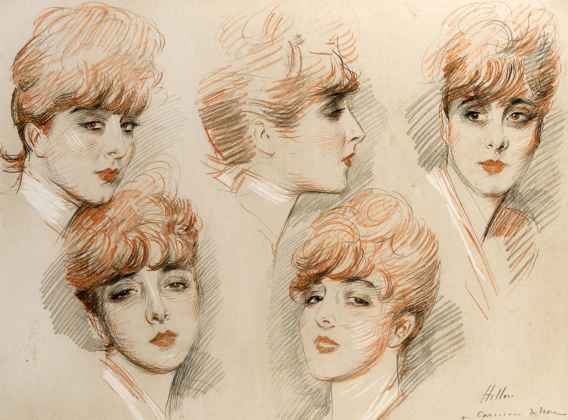 Paul Cesar Helleu  Suzanne 5 studies