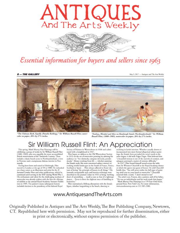 Sir William Russell Flint - Press Coverage