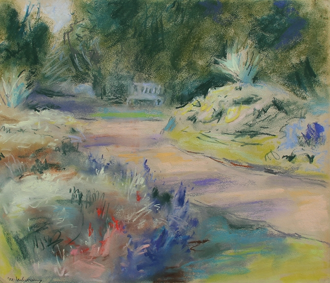 ATTRIBUTED TO MAX LIEBERMANN    Garden near Noordwijk (Holland)   Pastel on paper 13¾ x 16¼ inches (35 x 41 cm) $25,000 Click here for more information