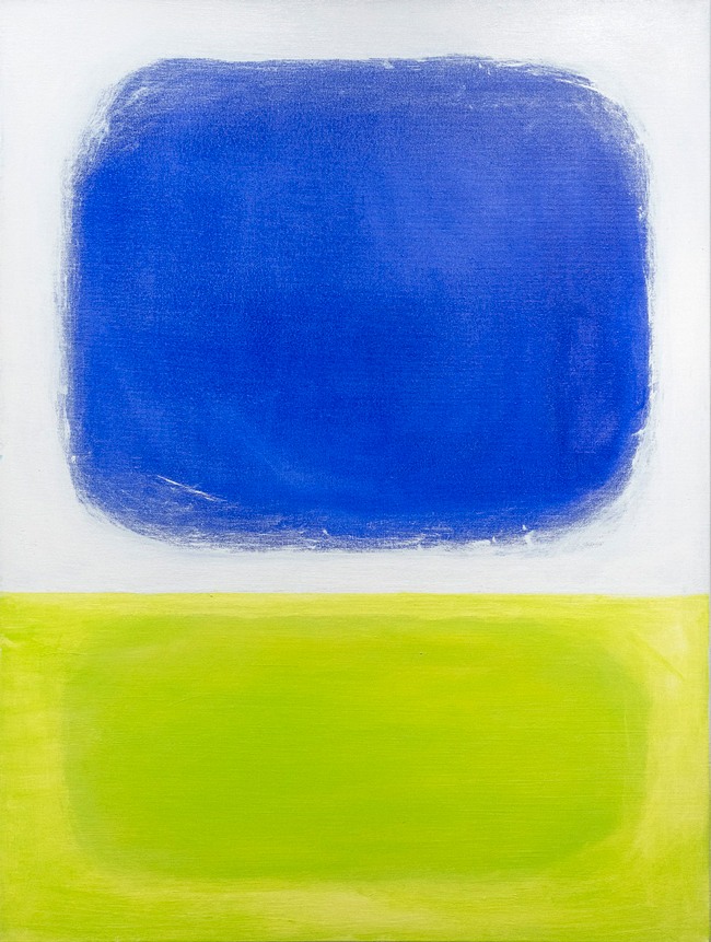 MARY CASH JOSKA    Blue Chartreuse   Acrylic on canvas 40 x 30 inches $8,500 Click here for more information