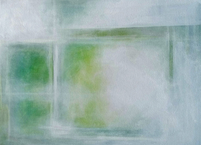MARY CASH JOSKA  Spring Window   Acrylic on canvas 36 x 48 inches $8,500 Click here for more information