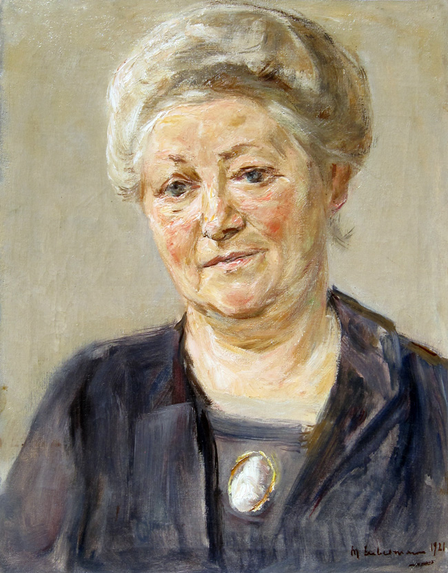 MAX LIEBERMANN    Portrait of a Lady   Oil on canvas 19 x 15 inches (48.2 x 38 cm)  SOLD