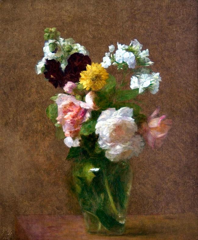 VICTORIA DUBOURG FANTIN-LATOUR  Vase de Fleurs   (1913) Oil on canvas 18 x 15 inches (45.7 x 38 cm.)  SOLD