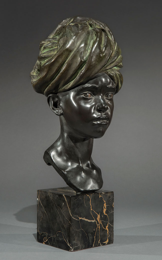 """FAUSTA VITTORIA MENGARINI  """"Dar-Dar"""" - the Little Erythrean Soldier   Bronze Height: 18 inches (45.7 cm) $12,500 Click here for more information"""