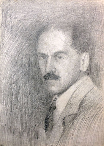 THOMAS BUFORD METEYARD  Self-Portrait  (verso)   Pencil on paper 11 x 15 inches (28 x 38cm) $7,500 Click here for more information