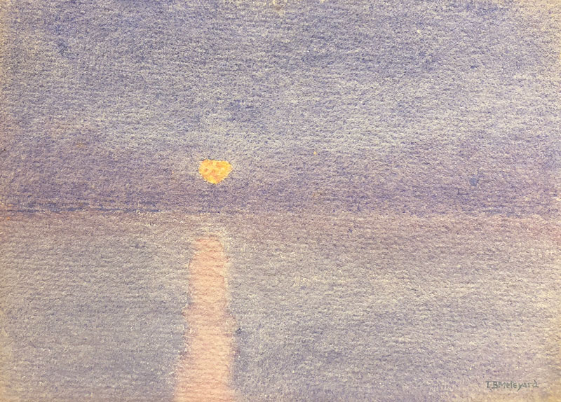 THOMAS BUFORD METEYARD    Moonrise in Mist    Watercolor on paper 5 x 7 inches (12.6 x 17.7 cm) $4,500 Click here for more information
