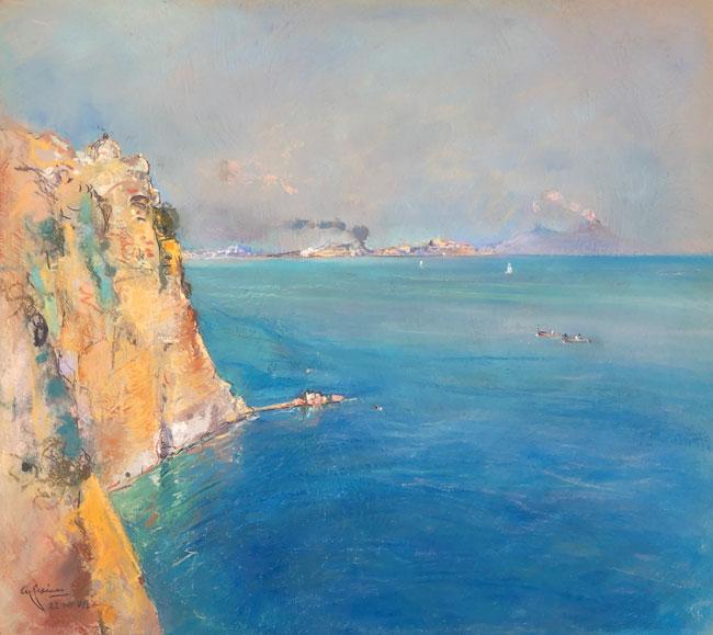 GIUSEPPE CASCIARO    Capri   Pastel on paper 17½ x 19½ inches (44.5 x 49.5 cm)  SOLD