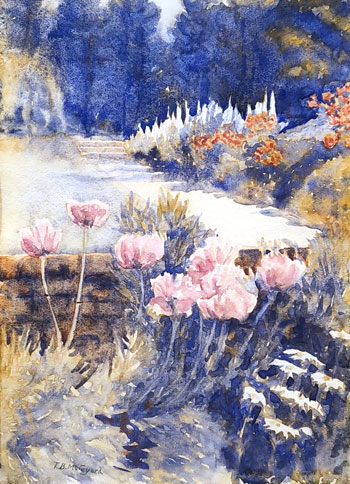 THOMAS BUFORD METEYARD    Pink Poppies, Summer, Moses Hill Farm   Watercolor on paper 15 x 11 inches (38 x 28 cm) $6,500 Click here for more information