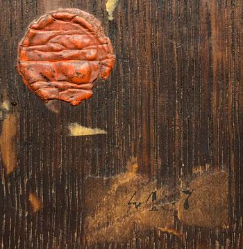 Willet wax seal & Knoedler Gallery label on reverse