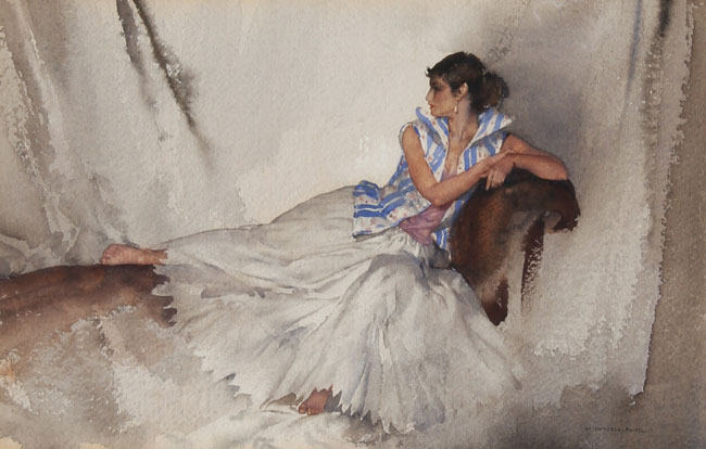 William Russell Flint | Girl Reclining