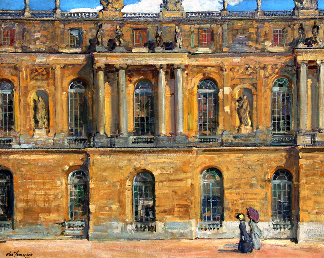 ALEXANDER JAMIESON  Palais de Versailles   Oil on canvas 25 x 31¼ inches (63.5 x 79.3 cm) $23,000 Click here for more information