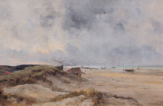 MARIE JOSEPH LEON CLAVEL (IWILL)    Dunes de Flandre  (1899)  Oil on canvas 21½ x 32 inches (54.5 x 81.2 cm) $18,000 Click here for more information