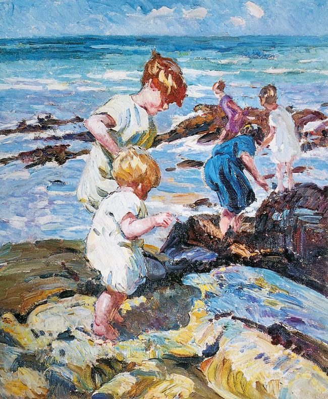 DOROTHEA SHARP    Young Explorers   Oil on canvas 24 x 20 inches (61 x 50.8 cm)  SOLD