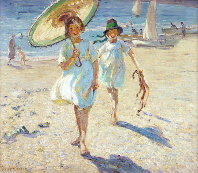 DOROTHEA SHARP    On the Beach   Oil on canvas 36 x 42 inches (91.2 x 106.5 cm)  SOLD