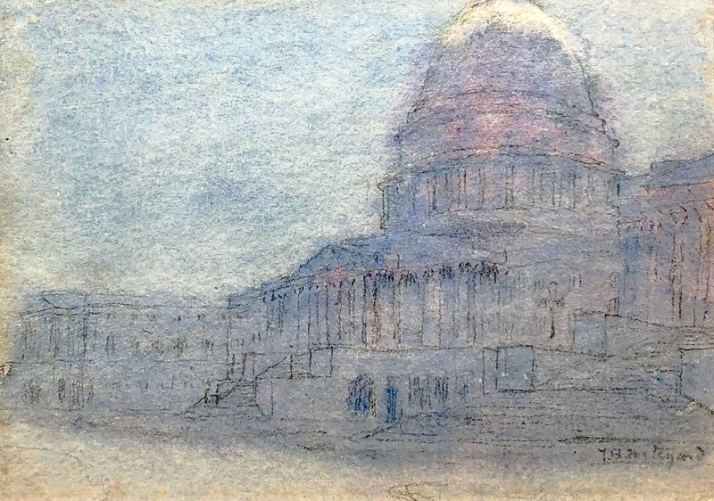 THOMAS BUFORD METEYARD    The Capitol, Washington   Pen and ink and watercolor on paper 5 x 7 inches (12.7 x 17.8 cm) $4,500 Click here for more information
