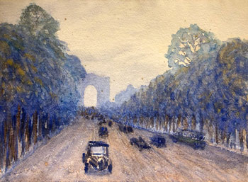 THOMAS BUFORD METEYARD    Champs-Elysées, Paris   Watercolor on paper 11 x 15 inches (28 x 38 cm) $6,500 Click here for more information