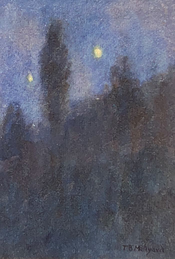THOMAS BUFORD METEYARD    Hampstead at Night   Watercolor on paper 7 x 5 inches (18 x 12.5 cm) $4,500 Click here for more information