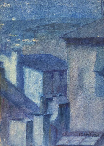 THOMAS BUFORD METEYARD    St. Ives, Night   Watercolor on paper 7 x 5 inches (18 x 12.5 cm) $4,500 Click here for more information
