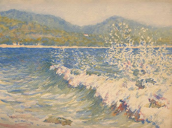 THOMAS BUFORD METEYARD    Spray, Cavalaire-sur-Mer (Provence)   Watercolor on paper 11 x 15 inches (28 x 38 cm) $6,500 Click here for more information