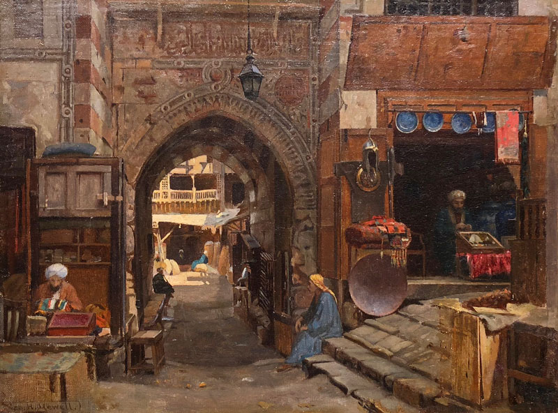 GEORGE HENRY YEWELL -  Entrance to the Old Slave Market, Cairo